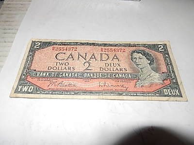 1954 CANADA 2 DOLLAR BANK NOTE BEATTIE/ RASMINSKY Banknote RR2554372