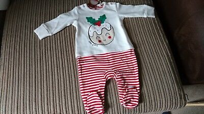 NEXT Boy/Girl 3-6 Months Christmas Sleepsuit/All In One  Little Pudding