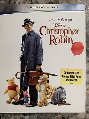 Christopher Robin Blu Ray And Dvd 2018 With Slipcover
