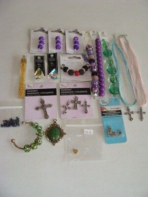 Craft And Jewelry Making Lot Of 19 Pcs. Most New With Tags