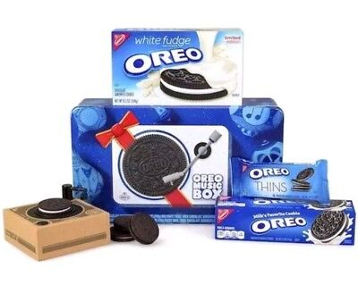 Oreo Music Box Cookie Record Player Collectible Holiday Gift Tin Limited Edition