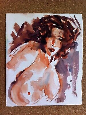 WATERCOLOUR, NUDE BY SIDNEY FORT fellow of the royal art institute of nsw