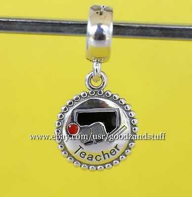 Teacher Dangle Authentic Pandora Sterling Silver Charm ENG791169_47