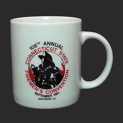 COFFEE MUG Connecticut Fireman's Convention 108th 1991 Collectible