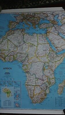 2013 National Geographic Africa map #22110 24 x 31  Excellent