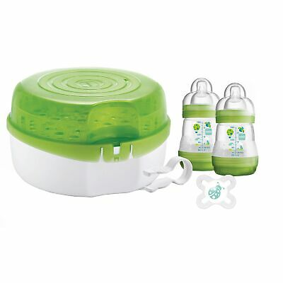 MAM Baby Feeding 2 Level Microwave Steam / Cold Water Steriliser For Bottles
