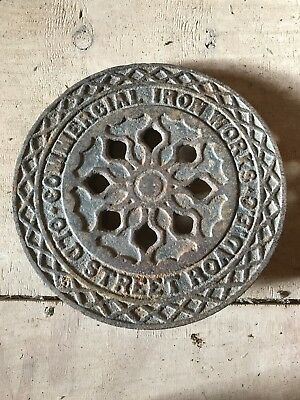 Antique Victorian Cast Iron Coal Plate Iron Works. Commercial . Old Street EC