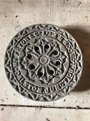 Antique Victorian Cast Iron Coal Hole Plate DALSTON JUNCTION