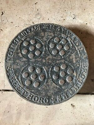 Antique Victorian Cast Iron Coal Hole Plate HAYWARD BROTHERS BORO