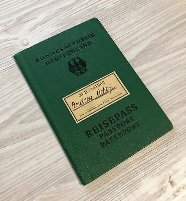 West Germany 1959 collectible passport travel document