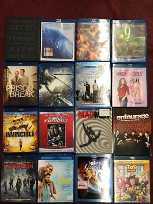 30 Blu Ray Lot - Mad Men - 9 - Inception - Gifted - Step Into Liquid - Toy Story