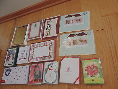 New Christmas Greeting Card Lot 113 pcs Box Boxed Daughter Son Grandparents (L33