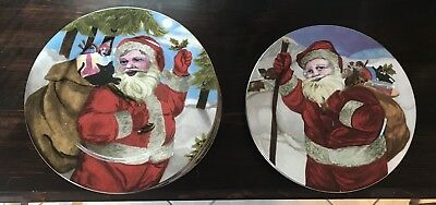 American Atelier Santa Plates 5052 Total Of 11 8 On The Left And 3 On The Right