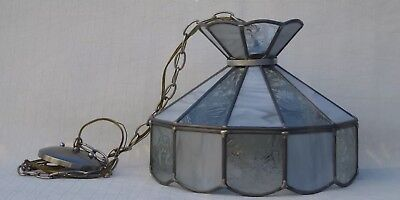 Vintage Stained Glass Hanging Light Lamp Tiffany Style Shade Ceiling Fixture