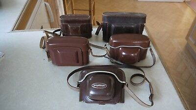 5 x vantage leather case only AGFA silette ZEISS IKON Voiglander VITO