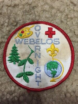 "Vintage BSA Boy Scouts Webelos Overnight 3"" Patch"
