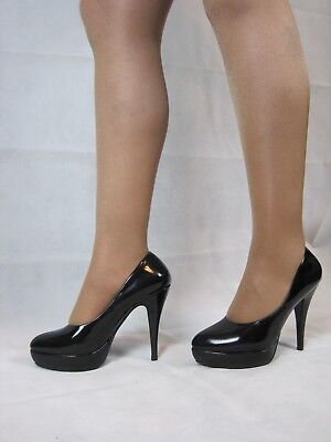 8ae9aa4f8d997d Super sexy High Heel Pumps Lackoptik schwarz Gr.38