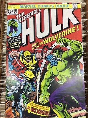 Incredible Hulk #181 1st Wolverine True Believers Reprint Custom Cover
