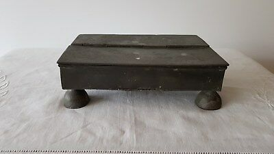 Early 17th / 18th Century Snuff / Tobacco / Pipe Container Pewter / Lead