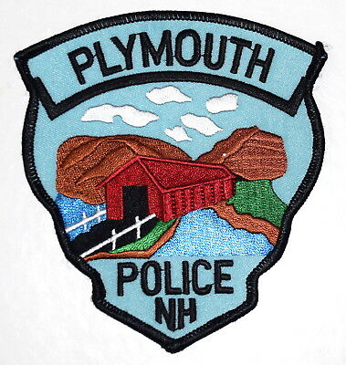 PLYMOUTH NEW HAMPSHIRE NH Sheriff Police Patch COVERED BRIDGE RIVER CLOUDS ~