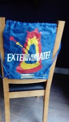 Doctor Who, Dalek, Exterminate!! drawstring bag used. no reserve.
