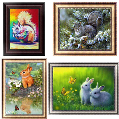 Squirrel DIY 5D Diamond Painting Embroidery Rabbit Cross Stitch Home Decor Craft