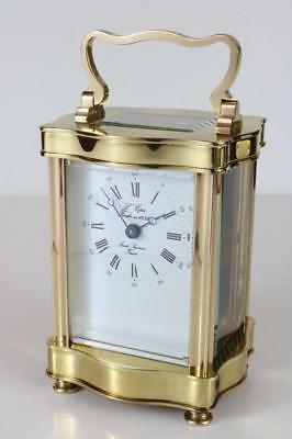 SUPERB L'EPEE FRENCH CARRIAGE CLOCK serpentine case NEAR SHOWROOM CONDITION 8 da