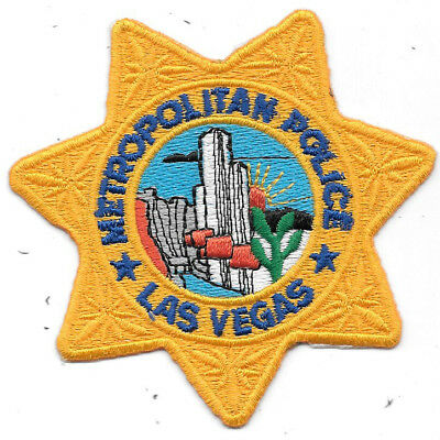 "Law Enforcement Patch: Metropolitan Las Vegas Police - Measures 3 1/2"" X 3 1/2"""