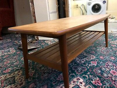Retro Vintage Mid Century Wooden Occasional Table