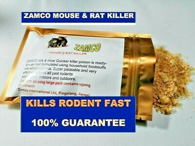Rat and Mouse  ZAMCO QUICKER KILLER Poison Kills Fast- 100% MONEY BACK GUARANTEE