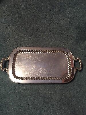 """Large Silverplate Serving Tray Approx 24"""" X 11 1/4"""""""