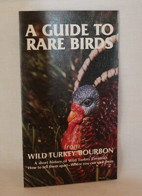 Wild Turkey Bourbon Decanters - A Guide to Rare Birds pamphlet