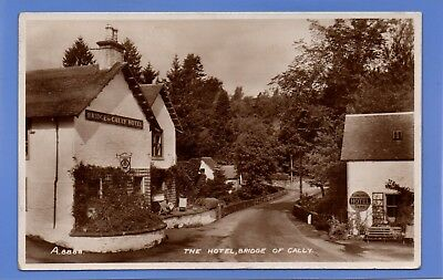 Old Vintage 1940 Rp Postcard The Hotel Bridge Of Cally Perthshire