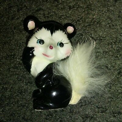 SKUNK with Fur Tail Japan -VINTAGE-CERAMIC