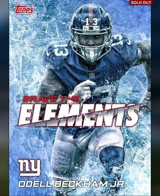 2018 Topps Huddle DIGITAL - Brave the Elements - Giants Odell Beckham - 100cc