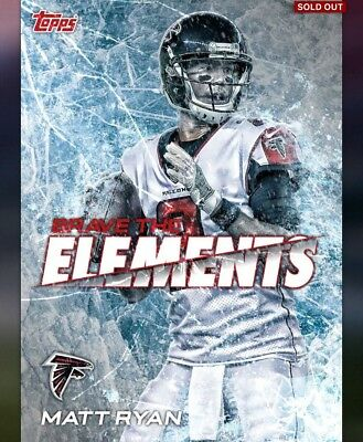 2018 Topps Huddle DIGITAL - Brave the Elements - Falcons Matt Ryan - 100cc