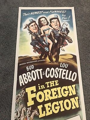 1950 Abbott And Costello In The Foreign Legion Insert Poster 14X36 Universal