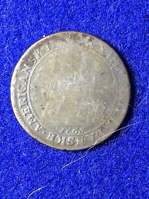 Coin, Danish West Indies, Rare 1765 24 S silver