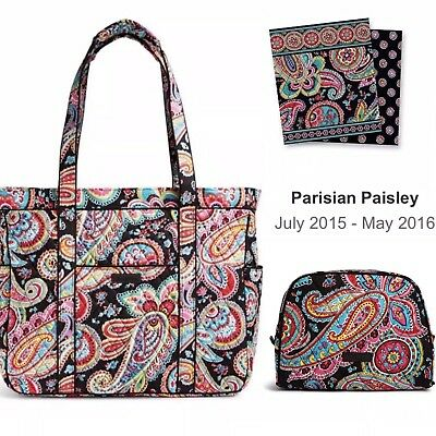 9048e3dac8 Vera Bradley Get Carried Away Tote Bag in retired pattern Parisian Paisley  NWT