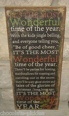 BiG CHRISTMAS PICTURE Sign*Wall/Mantel*Primitive/French Country Farmhouse Decor
