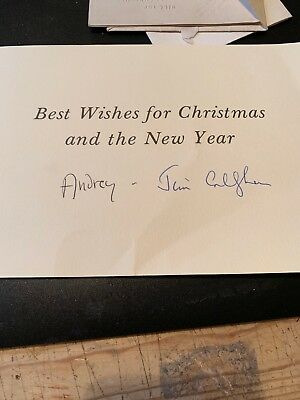 Jim & Audrey Callaghan - Late Great Prime Minister - Rare Signed Christmas Card