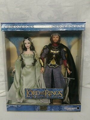 Barbie Collectibles The Lord Of The Rings Barbie Doll And Ken As Arwen & Aragon
