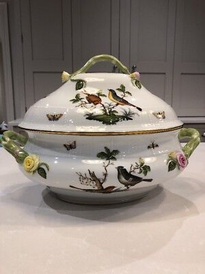 "Herend ROTHSCHILD BIRD 11.75"" Oval Tureen"