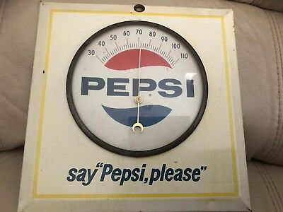 Vintage Pepsi Thermometer, Say Pepsi Please, Mid 60's