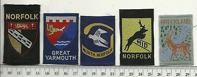UK Scouts Old Norfolk County & District Badges
