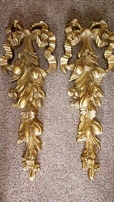 "Wall sconces with Bows and Fruit Design 27"" by 9"""