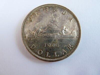 1946 One Dollar coin Canada  Key date Very nice!