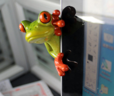 1X Green Frog Figurines Resin Colleation Gift Character Peeping Frog Desk Decor