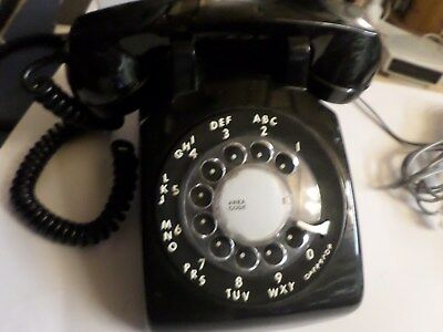 Telephone black American spares and repairs.