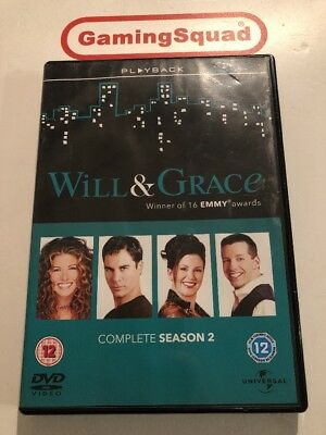 Will & Grace Complete Season 2 DVD, Supplied by Gaming Squad